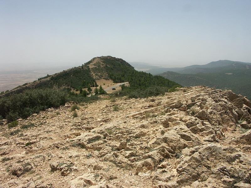 Jebel Chambi hegycsúcsa (1544 m)