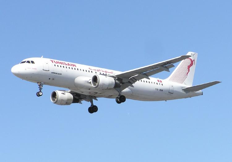 Tunézia repülőgép