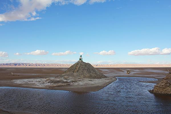 Chott-El-Jerid sóstó megkövesedett homokdűnéi
