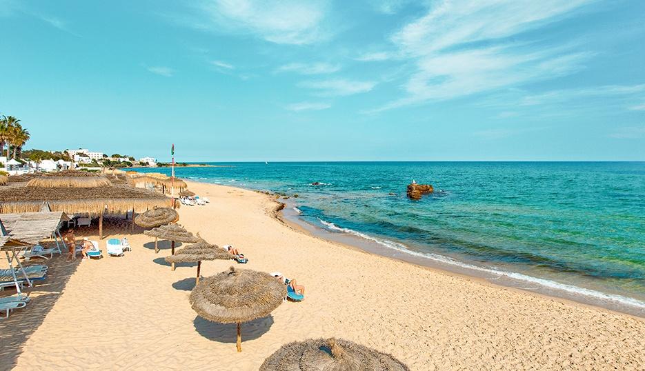 Hammamet tengerpartja, egyike Tunézia legszebb strandjainak