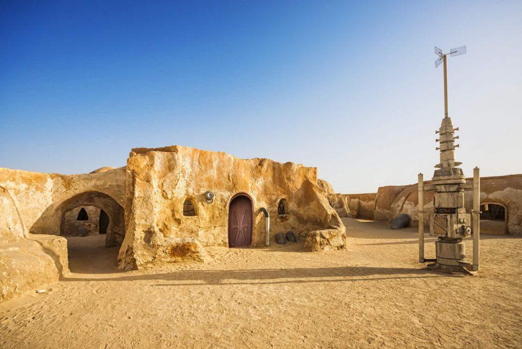 Foum Tatouine környéke, ahol a Star Wars-t néhány jelenetét forgatták