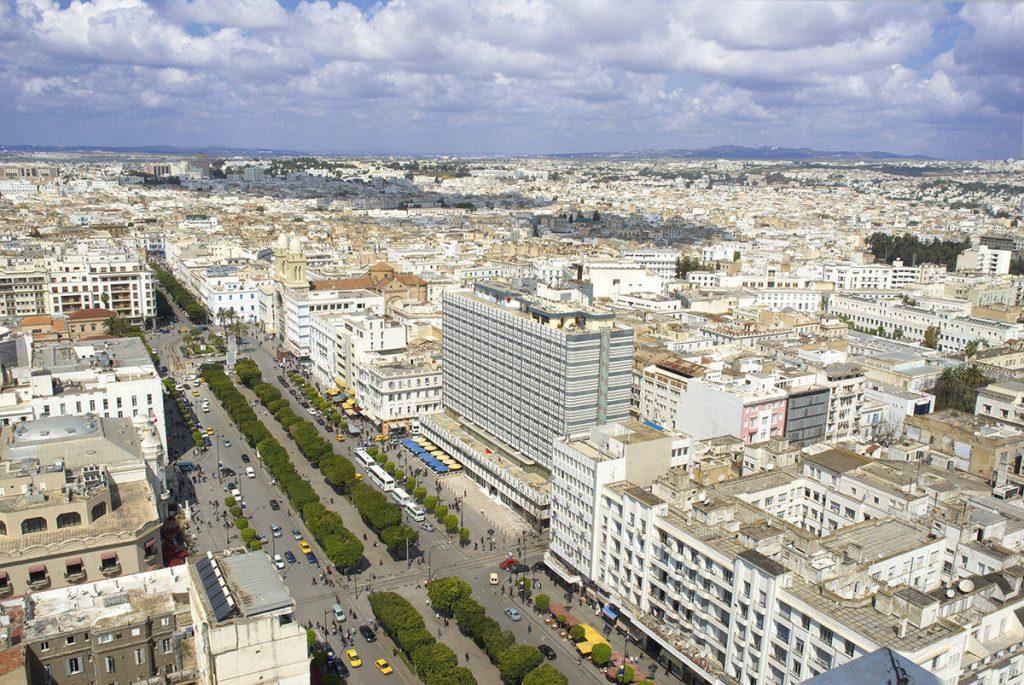 Tunisz, a főváros madártávlatból